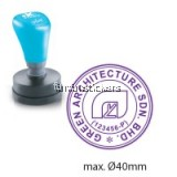 ROUND Pre-Ink STAMP 40mm
