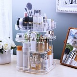 Transparent Acrylic Rotation Cosmetics Storage Rack